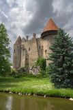Heidenreichstein castle. Austria. Cloudy skies. River nearby Stock Photo