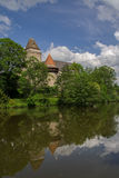 Heidenreichstein castle. Austria. Reflection in the river Stock Images