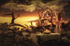Heidens altaar Stock Afbeelding