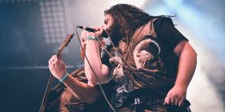 Heidevolk folk metal band live in concert 2016 Royalty Free Stock Images