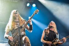 Heidevolk metalu ludowy zespół żywy w koncercie 2016 Obrazy Stock