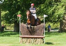 Heidi Bratlie Larson för Houghton internationell hästförsök ridning Arkivbild