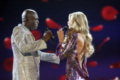 Heidi Klum,Seal,Victoria's Secret Stock Photography