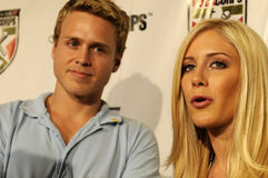 Heidi Montag and Spencer Pratt on the red carpet Stock Image