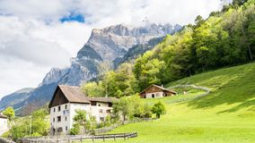 Heididorf, το χωριό της Heidi στις ελβετικές Άλπεις, Ελβετία Στοκ Εικόνες