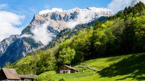 Heididorf, il villaggio di Heidi in alpi svizzere, Svizzera Fotografia Stock