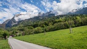 Heididorf, the village of Heidi in Swiss Alps, Switzerland Stock Photography