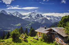 The Swiss Alps Royalty Free Stock Photography