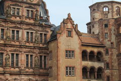 Heidleberg Castle, Heidelberg, Germany. Ruins of Heidelberg Castle, in historic Heidelberg, Germany. The home of the monarchy of Germany Stock Images