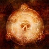 Heidnische dunkle Magie Stockbild