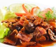 Heiße Fleisch-Teller - Rindfleisch-Eintopfgericht Stockbild