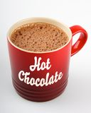 Heiße Schokoladen-Becher Stockfoto