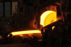 Heiße Stahlrolle Lizenzfreies Stockbild