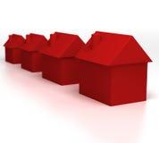 Heißes Eigentum (rote Häuser) Stockbilder