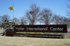 Heifer International Center entrance sign Royalty Free Stock Photos