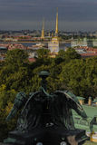 From height of bird`s flight. St. Petersburg in different prospect Stock Photo