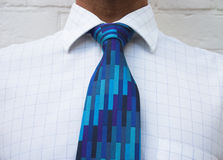 Height of fashion. Neck tie & check shirt Stock Photography