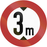 Height Limit 1956 Royalty Free Stock Photo