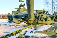 Height `Long`, Russia - November 2016: Tank T-80B royalty free stock photography
