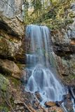 Beautiful waterfall on a mountain river Royalty Free Stock Images