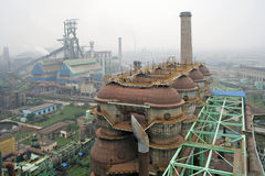 Height overlooking the steel plant desulfurization tower. Eastphoto, tukuchina, Height overlooking the steel plant desulfurization tower, Industry Stock Photography