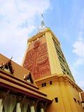 Height pagoda in Wat dhammamongkol temple, Wat dhammamongkol ,This temple is central of Bangkok city and have beautiful pagoda can Stock Photos