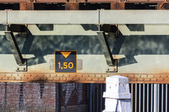 Height restriction under bridge Royalty Free Stock Photography
