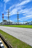 Height voltage electricity pylon system Royalty Free Stock Image