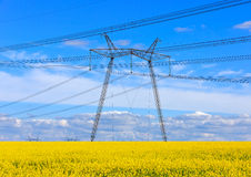 Height voltage power line Royalty Free Stock Photography