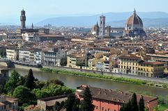 General view of Florence stock image