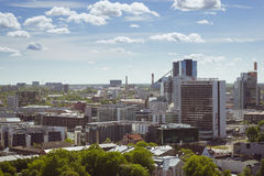 The heights to downtown Tallinn. Panorama from the heights to downtown Tallinn Sunny summer day Stock Photo
