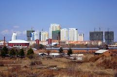 Heihe. Visión desde las cercanías de la ciudad Imagen de archivo