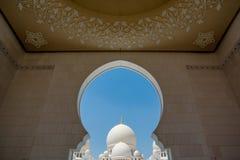 Heikh扎耶德盛大清真寺在阿布扎比 库存图片
