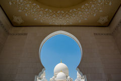 Heikh Zayed Grand Mosque in Abu Dhabi Stock Images