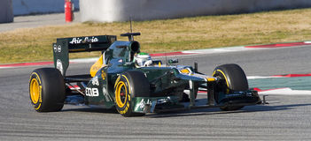 Heikki Kovalainen of Caterham F1 Royalty Free Stock Images