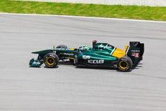 Heikki Kovalainen (Lotus van het team) Stock Afbeelding