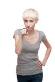Heikles beiläufiges blondes Mädchen Lizenzfreies Stockbild