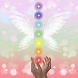Heilende Hände und sieben Chakras Lizenzfreie Stockbilder