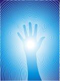 Heilende Hand mit reiki Zeilen stock abbildung