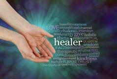 Heiler-anbietende heilende Wort-Wolke Lizenzfreie Stockbilder