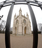 Heilig-Alexander Nevsky Orthodox-Kirche (gotische Kapelle) in Alexandria-Park St Petersburg, Russland Lizenzfreies Stockbild