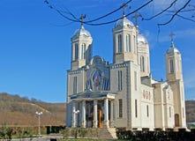 Heilig-Andrew-Kirche mit fünf Kontrolltürmen Stockfotografie