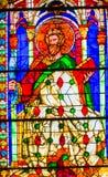 Heilig-Bartholomew Knife Stained Glass Window-Duomo-Kathedrale Flo lizenzfreie stockbilder