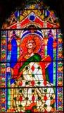 Heilig-Bartholomew Knife Stained Glass Window-Duomo-Kathedrale Flo lizenzfreie stockfotografie