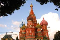 Heilig-Basilikum-Kathedrale in Moskau Stockfotografie