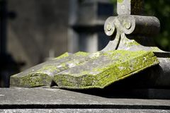 Heilig Boek dat van steen wordt gemaakt Stock Afbeelding