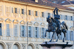 Heilig-Carlo-Quadrat in Turin Stockfotografie