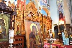 Heilig-Dreiheit-orthodoxer Klosterinnenraum Stockfoto