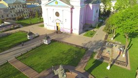 Heilig-Geist-Kathedrale in Chernivtsi, Ukraine stock footage
