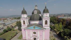 Heilig-Geist-Kathedrale in Chernivtsi, Ukraine Brummenvideo stock footage